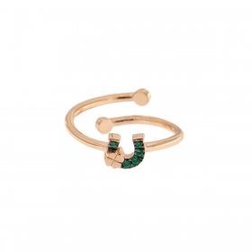rue de mille Ring with a horseshoe cubic zirconia open ANZ-022 FERCAV