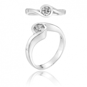 CHIMENTO RING SOLITAIRE 18K WHITE GOLD 1AED0101G5140