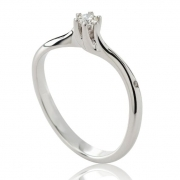 CHIMENTO RING SOLITAIRE 18K WHITE GOLD 1AEE0072G5140