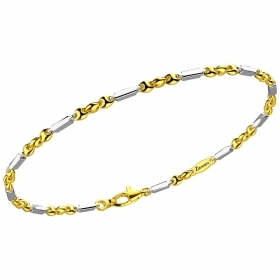 ZANCAN BRACELET YELLOW AND WHITE GOLD ETERNITY GOLD EB805GB