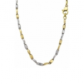 ZANCAN NECKLACE GOLD TWO-TONE WHITE AND YELLOW EC509BG