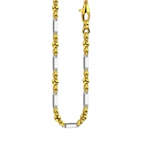 ZANCAN NECKLACE GOLD TWO-TONE YELLOW AND WHITE EC660GB