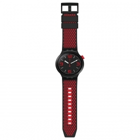 SWATCH MENS WATCH BIG BOLD BLACK AND RED SO27B102