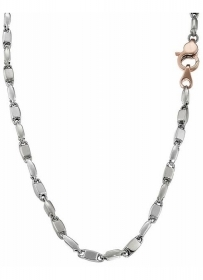 ZANCAN NECKLACE IN WHITE GOLD CLASP ROSE GOLD EC509BR