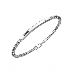 ZANCAN BRACELET IN STEEL WITH CHAIN SPINELLI BLACK EHB178