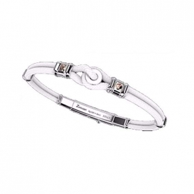 ZANCAN BRACELET MAN SILVER COLLECTION REGATTA WHITE COLOR EXB519R-BI