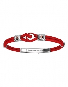 ZANCAN BRACELET SILVER MAN COLLECTION RACE RED EXB519R-RO