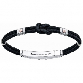 ZANCAN BRACELET MAN SILVER COLLECTION REGATTA BLACK EXB475MR-NE