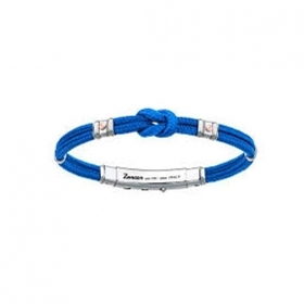 ZANCAN BRACELET MAN SILVER COLLECTION REGATTA BLUE COLOUR, EXB475MR-AZ