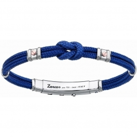 ZANCAN BRACELET MAN SILVER COLLECTION REGATTA BLUE EXB475MR-BL