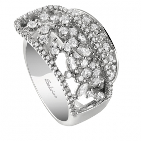 SALVINI WHITE GOLD RING WITH DIAMONDS 20061771