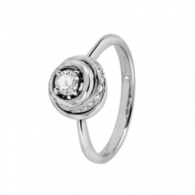 SALVINI WHITE GOLD RING WITH D