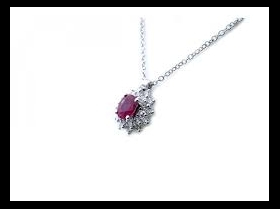SALVINI NECKLACE WHITE GOLD WITH DIAMNTI AND RUBY 20071246
