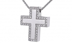 SALVINI NECKLACE WHITE GOLD CR