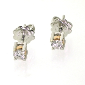 SALVINI EARRINGS WHITE AND PIN