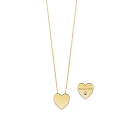 SALVINI COLLIERINO YELLOW GOLD WITH HEART WITH DIAMOND IN THE CENTRE 20081105