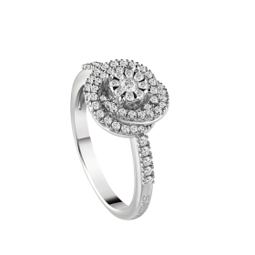 Salvini solitaire Ring white gold with diamonds Ref. 20081187