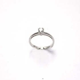 Salvini Solitaire Ring white gold with diamonds Ref. 20029572
