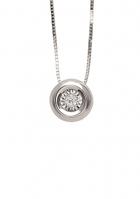 Bliss Necklace-Dew white gold with diamonds Ref.20069883