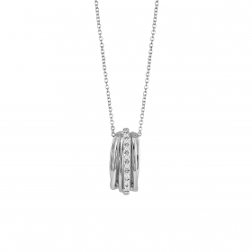 Bliss Charm Necklace in white gold with diamonds Ref.20080521