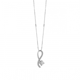 Bliss Necklace Thinking white gold with diamonds Ref.20081300