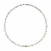 Bliss Necklace Paradise pearls inset in a yellow gold 20066892