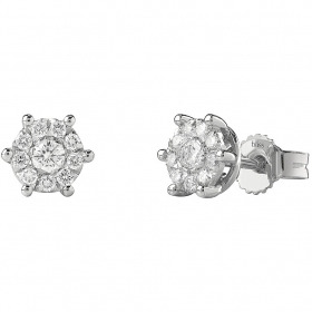 Bliss Earrings Bliss Caresse Plus white gold and diamonds 20077258