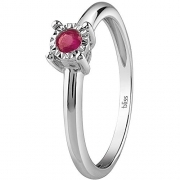 Bliss Ring Dew Colors white gold with ruby red 20081334