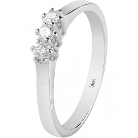 Bliss Trilogy Ring Dream white gold with diamonds 20081261
