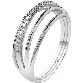 Bliss Ring Charm white gold with diamonds 20081650