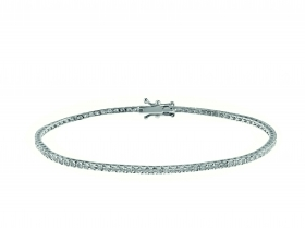 Bliss Bracelet Star white gold set with diamonds Ref.20075054