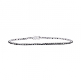 Bliss Tennis Bracelet in white gold with black diamonds Ref.20075062