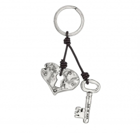 UNO DE 50 key rings heart padlock and key Ref. LLA0187MTLMAROU