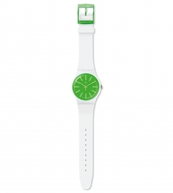 SWATCH WATCH MEN BLACK DIAL EMERALD GREEN REF. SUOW166