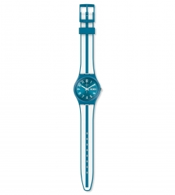SWATCH UNISEX WATCH STRAP-STRIPED WHITE/BLUE REF. SVOR101