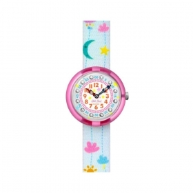 SWATCH WATCH GIRL STRAP PINK CLOUDS/BLUE FBNP120