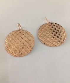 REBECCA EARRINGS WOMAN IN ROSE GOLD PLATED BRONZE BIAOBR05