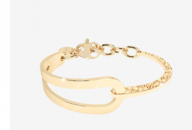 Rebecca Cuff, semi-rigid gold plated bronze yellow BICBBO02