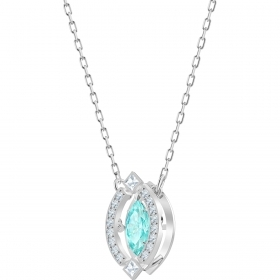 Swarovski Necklace Sparkling Dance with pave'blue rhodium Plating 5485721