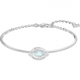 Swarovski Bracelet Sparkling Dance with turquoise stone Plated rhodium 5485722