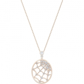 Swarovski Necklace with pave crystal stones and rose gold Plated 5488405