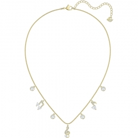 Swarovski Necklace Pleasant white with charm music gold Plated 5491655