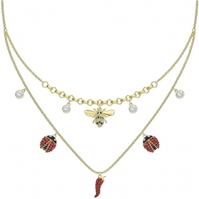 Swarovski Necklace with good-luck symbols, and the mystical gold-Plated 5498807