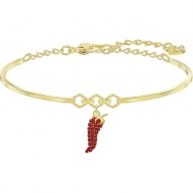 Swarovski bangle with red chilli-gold-Plated 5498810