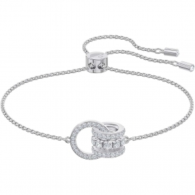 Swarovski bracelet with interlocking circles adorned rhodium-plated 5498999