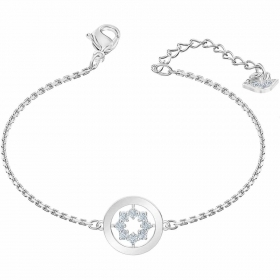 Swarovski bracelet with circle with star rhodium-plated 5499003