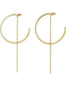 Swarovski hoop earrings sparkl