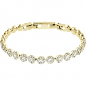 Swarovski Braccialeto Angelic with a row of crystals, round gold-plated 5505469