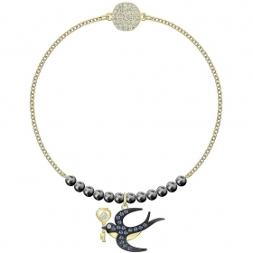 Swarovski Bracelet with symbol swallow gold-plated 5511097