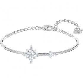 Swarovski bangle with star symbol rhodium-plated 5511401